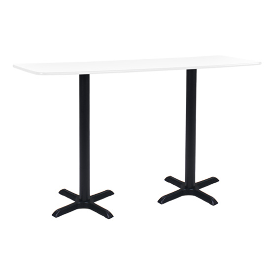 6' Rectangle Bar Table with Black Base